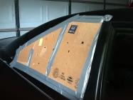 cardboard window