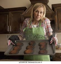 woman with burned cookies
